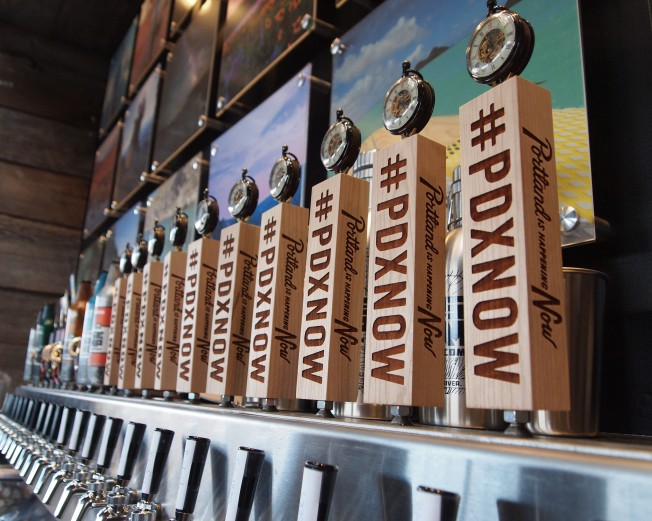 #PDXNOW tap handles at Collabofest